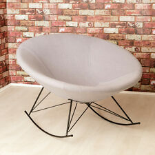 Ozzy Round Designer Felt Rocking Chair / Grey / Unique Bowl Seat / Accent Chair