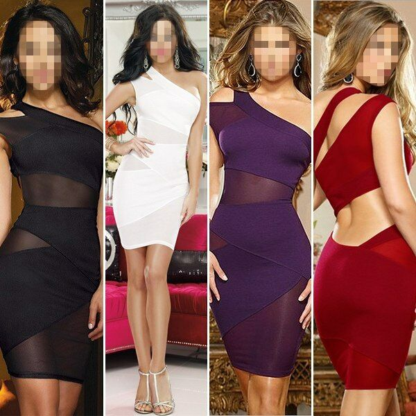 Sexy Sleeveless Cocktail Party Evening Bodycon Bandage Mini Dress Womens Ladies