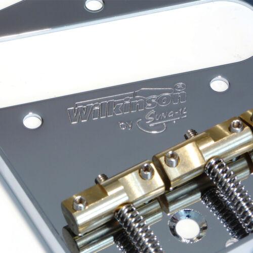 Black or Gold Wilkinson Telecaster WTB Ashtray bridge in Chrome