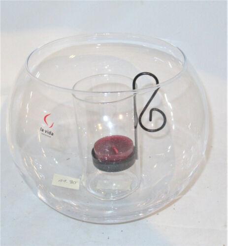 Kerzenständer Teelichthalter Teelichtgläser Vase Glas Landhaus Vintage