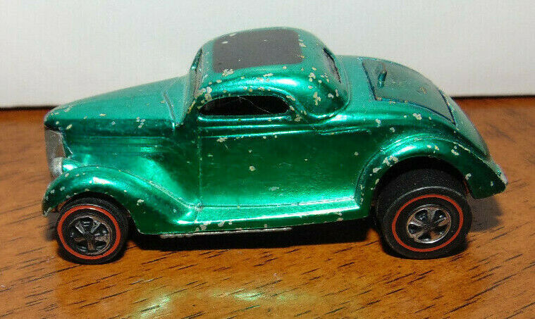 HOT WHEELS REDLINE VINTAGE 1968 CLASSIC '36 FORD COUPE - GREEN, ORIGINAL OWNER