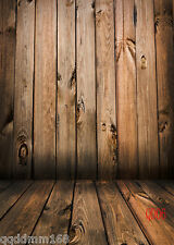 Retro Wood Wall Vinyl Photography Background Studio Prop Backdrop 5X7FT QD06