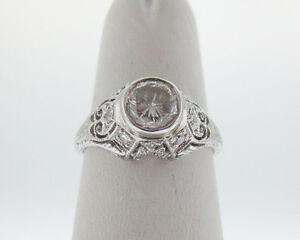 Genuine-Diamonds-1-00ct-Solid-Platinum-PT950-Filigree-Ring