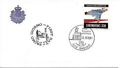 Unparteiisch San Marine 1981 Fdc Aasfn Meisterschaften Europäer Juniors Judo Extrem Effizient In Der WäRmeerhaltung Briefmarken