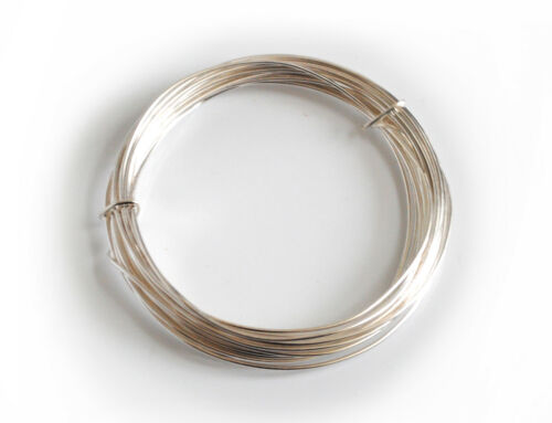 Jewellery Modelling X1107 1x Silver Plated Copper Cored Wire .6mm x 10m Hobby