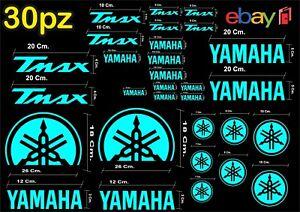 MAXI-KIT-30-PZ-DI-ADESIVI-YAMAHA-OLD-TMAX-T-MAX-500-530-COLORE-CELESTE