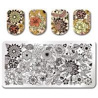Nagel Stempel Schablone Blumen Nail Art Stamping Platten Maniküre Born Pretty
