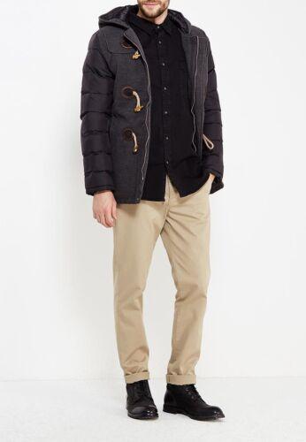 Cappotto Montgomery Uomo con Cappuccio Duffle Coat Giubbotto Imbottito Invernale