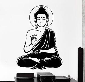Wall Vinyl Decal Buddha Buddhism Calm Meditation Bedroom Decor Z4090 Ebay