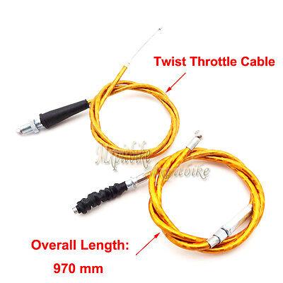 1//4 Turn Twist Throttle Grip Cable set CRF XR 50 70 TTR KLX110 SSR Pit Dirt Bike