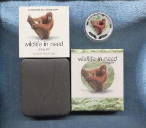 2011-1-Wildlife-in-Need-Orangutan-1oz-Silver-Proof-Coin-Tuvalu-Perth-Mint