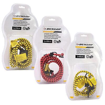 Dunlop Gepäckgurt 2er Set Spanngummi Spanngurt Zurrgurt Gepäckspanner mit Haken