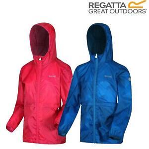 Regatta Kids Bagley Waterproof Hooded Packable Jacket Boys Girls Rain Coat