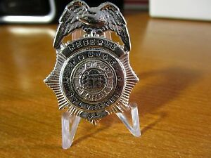Circa 1930s Obsolete Police Reserve Sylvester Georgia Pocket Mini Badge #118