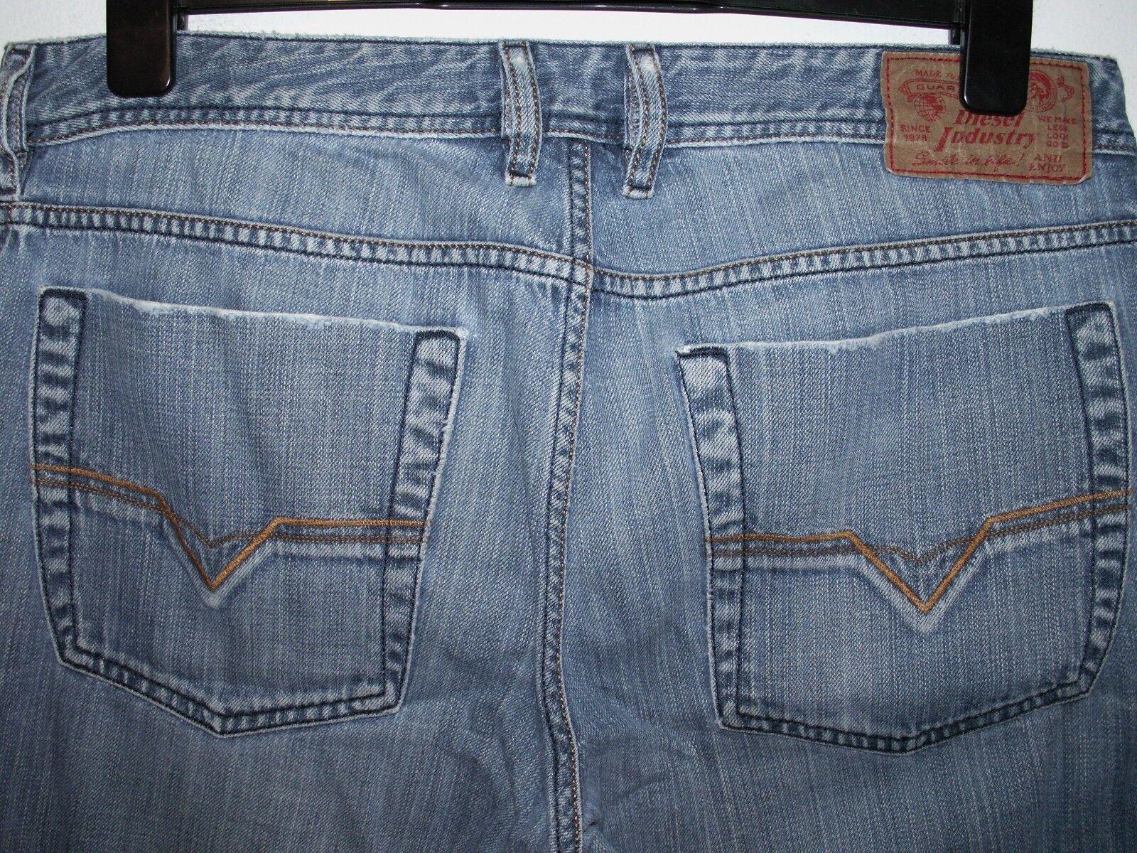 DIESEL ZATHAN Jeans avviocut Lavaggio 008J6 W32 L30 (a160)