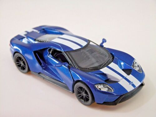 Die Cast Collectable Blue Kinsmart 2017 Ford GT 1:38