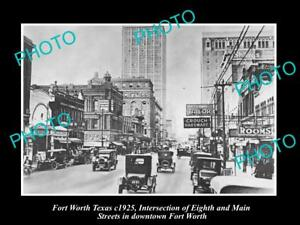 OLD-LARGE-HISTORIC-PHOTO-OF-FORT-WORTH-TEXAS-VIEW-OF-8th-STREET-c1925