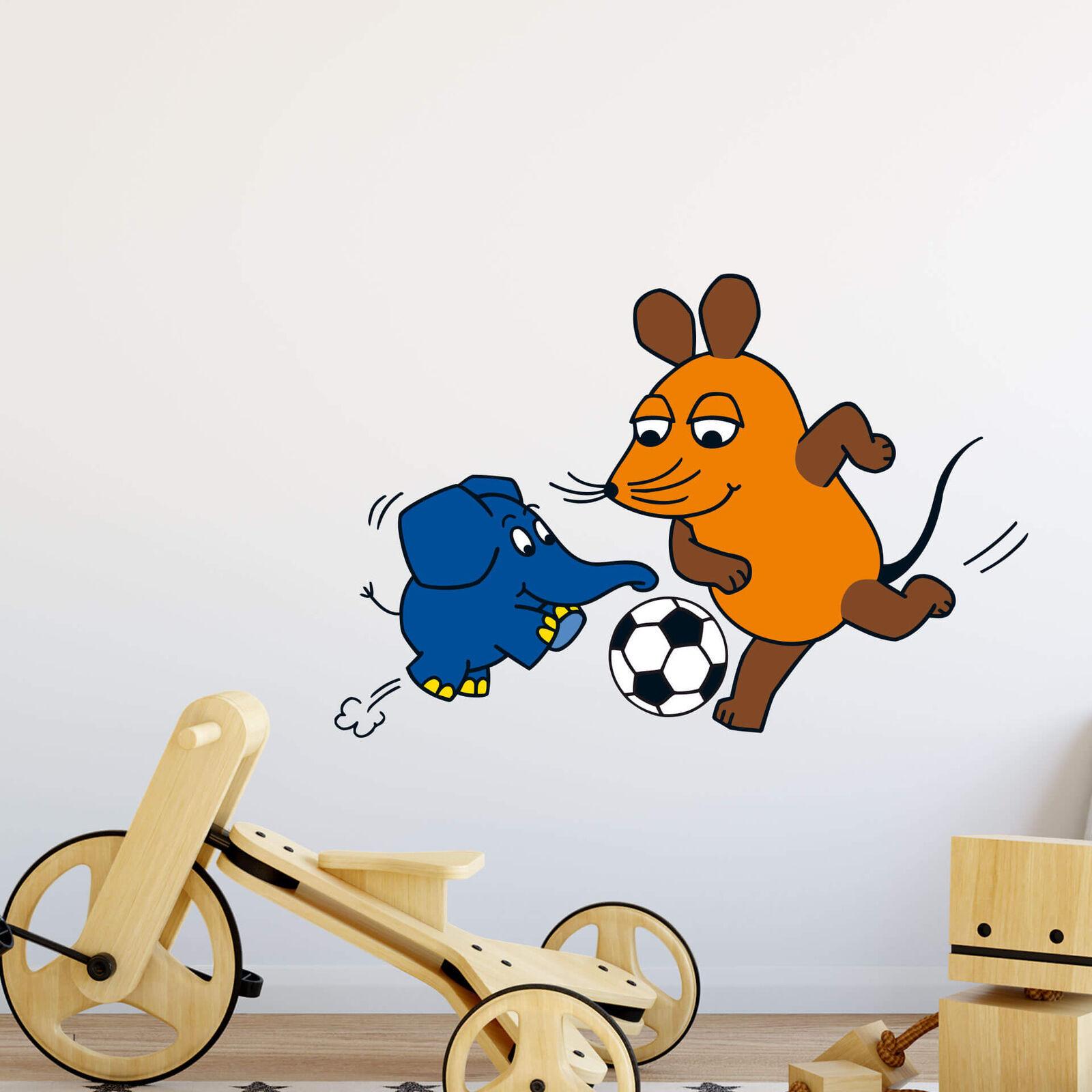 Wandtattoo Die Maus Kampf um den Ball Wandaufkleber Wandfolie Klebebild Wanddeko