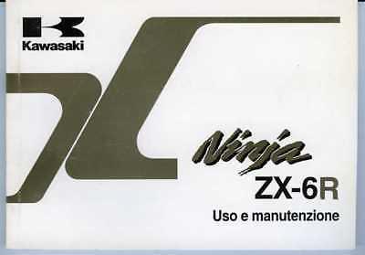 Amichevole Kawasaki Ninja Zx-6 R 2001 Manuale Uso Manutenzione Originale Italiano Novel (In) Design;