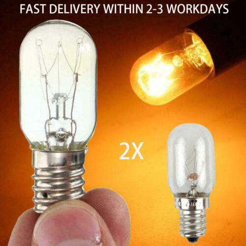 2 X 230V 15w Refrigerator Fridge Freezer Appliance  T20 E14 Bulb Pygmy UK