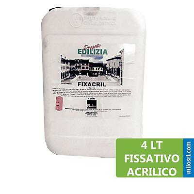 Lt 4 Fixacril Fissativo Murale Da Esterno Interno Acrilico Verniciabile Vernici Ebay