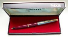 "PARKER "" 45 "" STANDARD DE LUXE ; in RED/STEEL/GOLD 14Kt NIB ! MADE IN U.S.A. !"