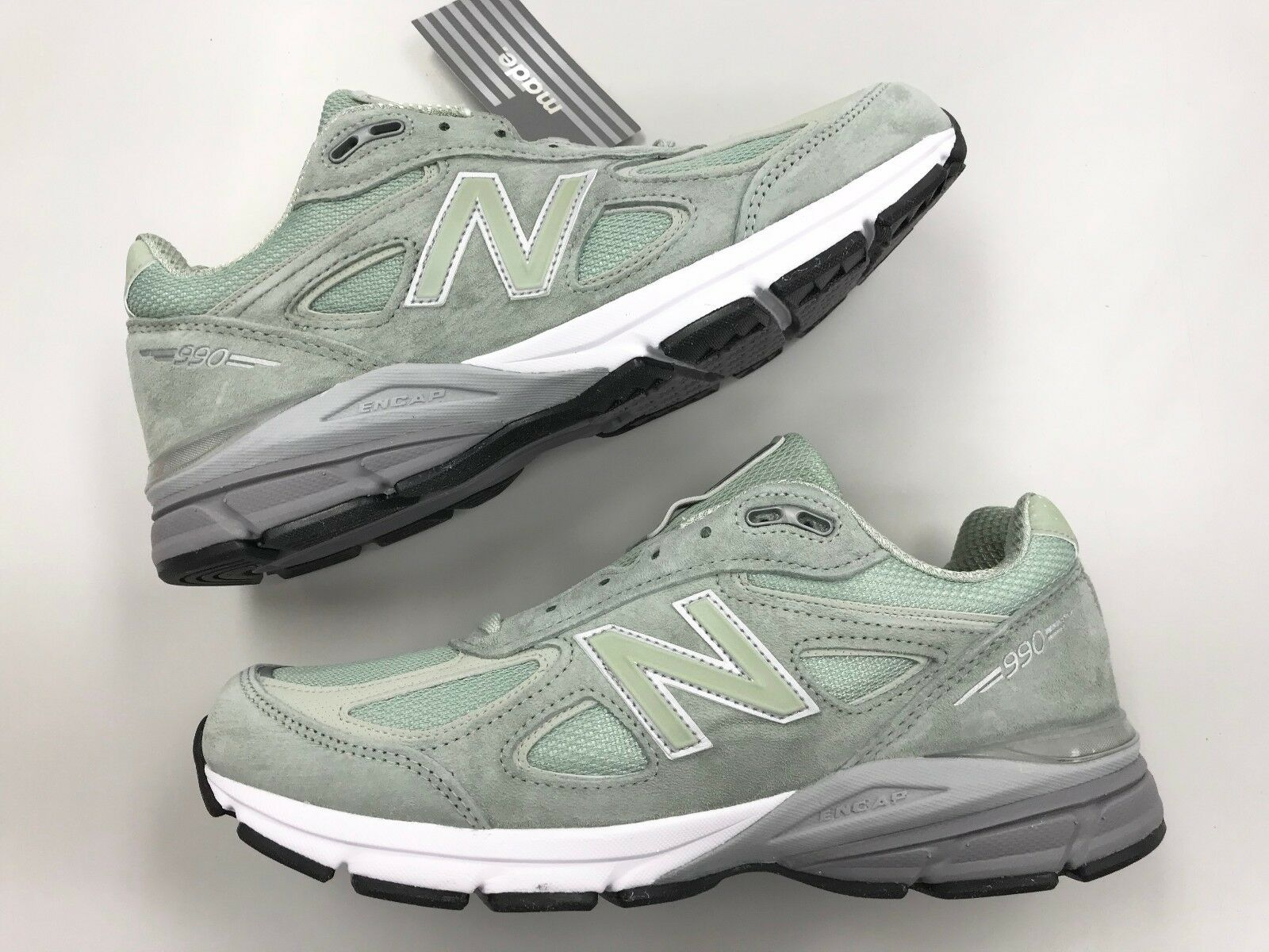 DS New Balance M990v4  SM4 Mint Green men running shoe 1 3 5 6 7 8 9 1300 15