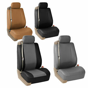 Superb Details About Car Truck Suv Seat Covers Front For Built In Seat Belt Leather Seats Caraccident5 Cool Chair Designs And Ideas Caraccident5Info