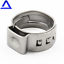 """50pcs 1/"""" PEX Stainless Steel Clamp Cinch Ring Crimp Pinch Fitting Tubing US NEW"""