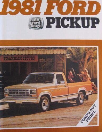1981 Ford Pickup Truck Brochure F150 F100 Ranger Custom