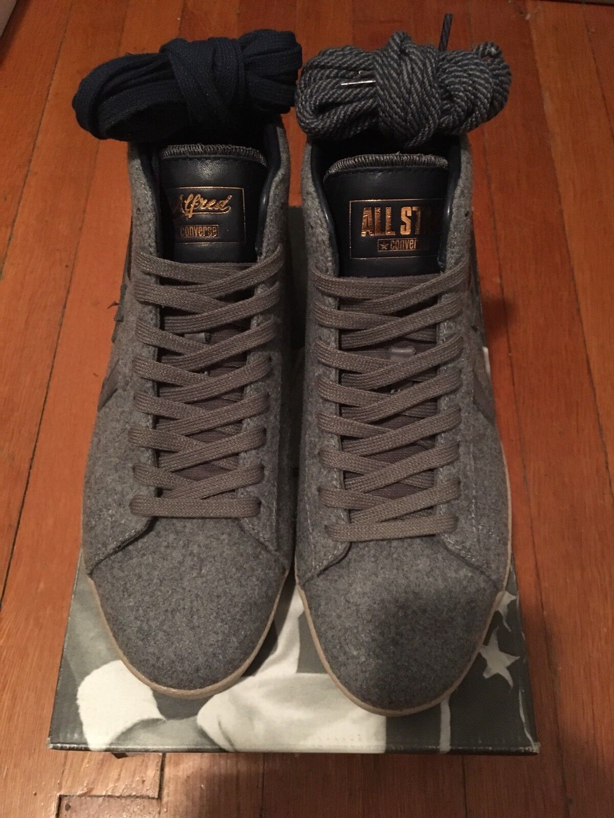 VNDS Converse X St. Alfrot's Converse Pro Leather Premium Wool Limited Edt Sz 8