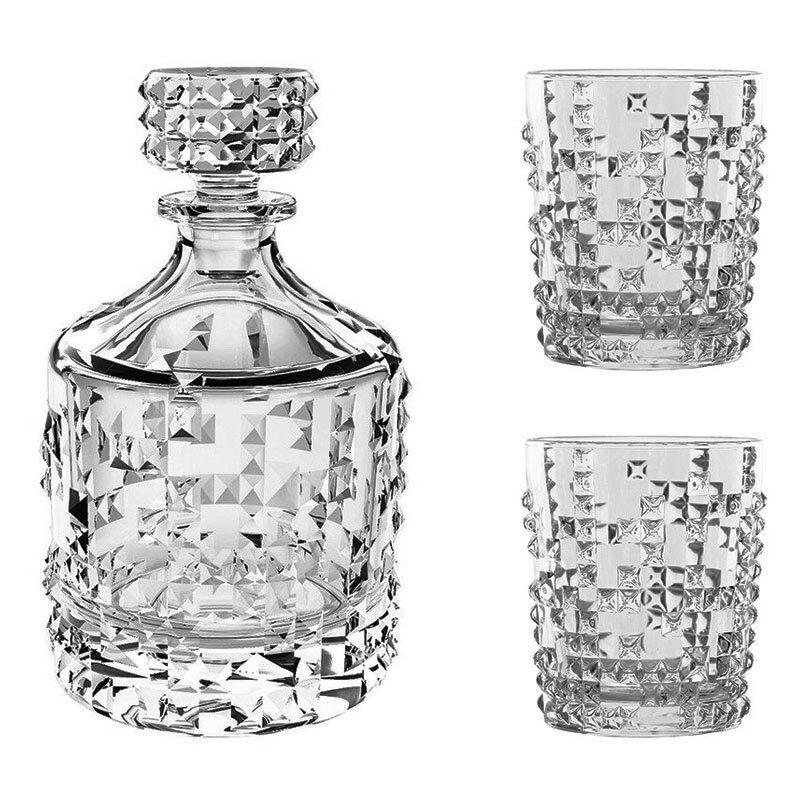 Nachtmann Punk Whiskyset 3tlg. whisky carafe + Verre De Whisky Gobelets
