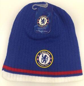 Chelsea FC Winter Beanie Hat Cap Skull Blue White Red OSFM NWT New ... 586d0402eff