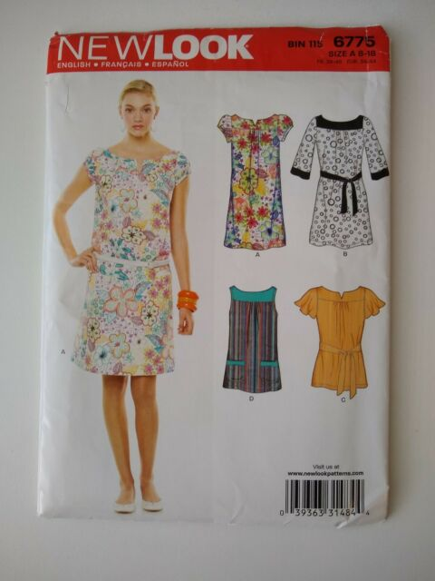 New Look Pattern 6699 Ms Design Your Own Dress w//Strap~Bodice~Skirt Opts Sz 8-18