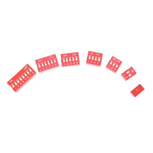 35x Dip Switch Kit 1 2 3 4 5 6 8 Way Toggle Switch Red Snap Switches Each 5x YNW