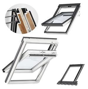 VELUX-Dachfenster-66x140-FK08-Kunststoff-3-fach-Verglasung-EDZ-ENERGIE-sparende