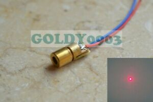 DIY-Lab-650nm-5mW-Red-Laser-Dot-Diode-Module-Mini-6x10mm-3V-Brass-Copper-Head
