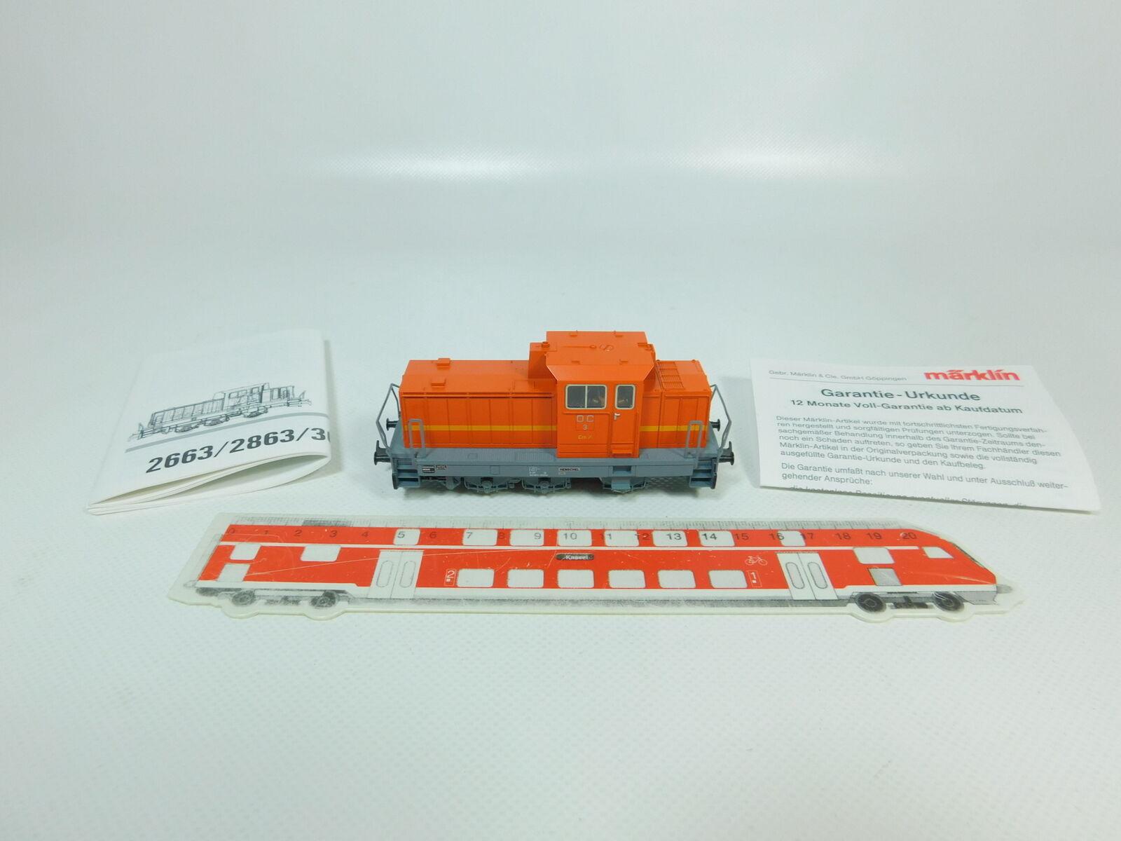 Bo131-0, 5  Märklin h0 ac DIESEL (3088.6 da Set 2847) DHG 700 C OC 3, Neuw