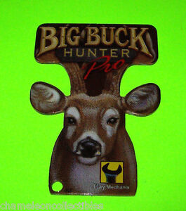 BIG-BUCK-HUNTER-Stern-2010-ORIGINAL-NOS-Pinball-Machine-Plastic-PROMO-KEYCHAIN