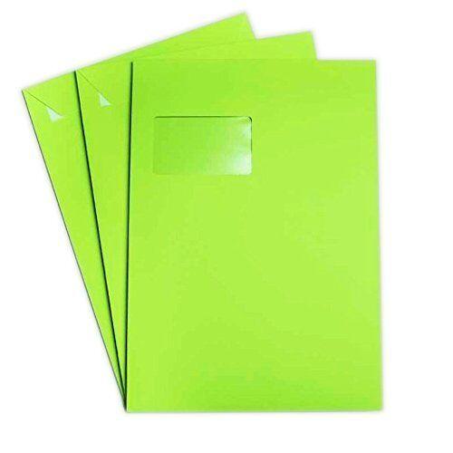 22,9 x 32,4 cm Gras Grün DIN C4 25x Briefumschläge mit Haftstreifen