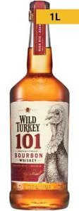 Wild Turkey 101 Bourbon Whiskey 1L 1000mL Bottle