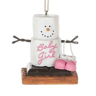 2017 S'mores Baby Girl Pink Pregnancy  Christmas Ornament Holiday Gift 121359