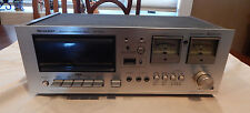 VINTAGE SHARP STEREO CASSETTE DECK MODEL RT-1155 POWERS ON AS-IS PARTS OR REPAIR