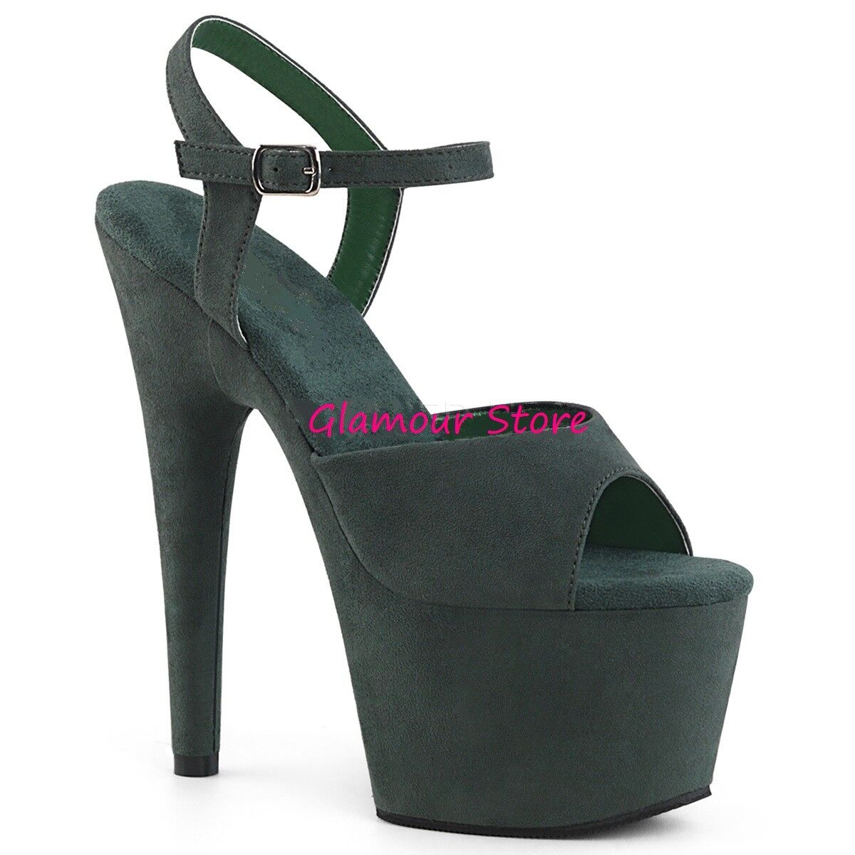 Sexy SANDALI scamosciati tacco 18 18 18 da 35 al 40 vert FORESTA plateau chaussures club eada2d