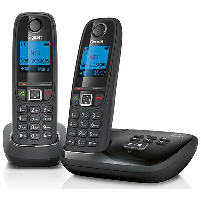 GIGASET Duo AL415A Cordless Phone with Answering Machine Twin H&sets Black