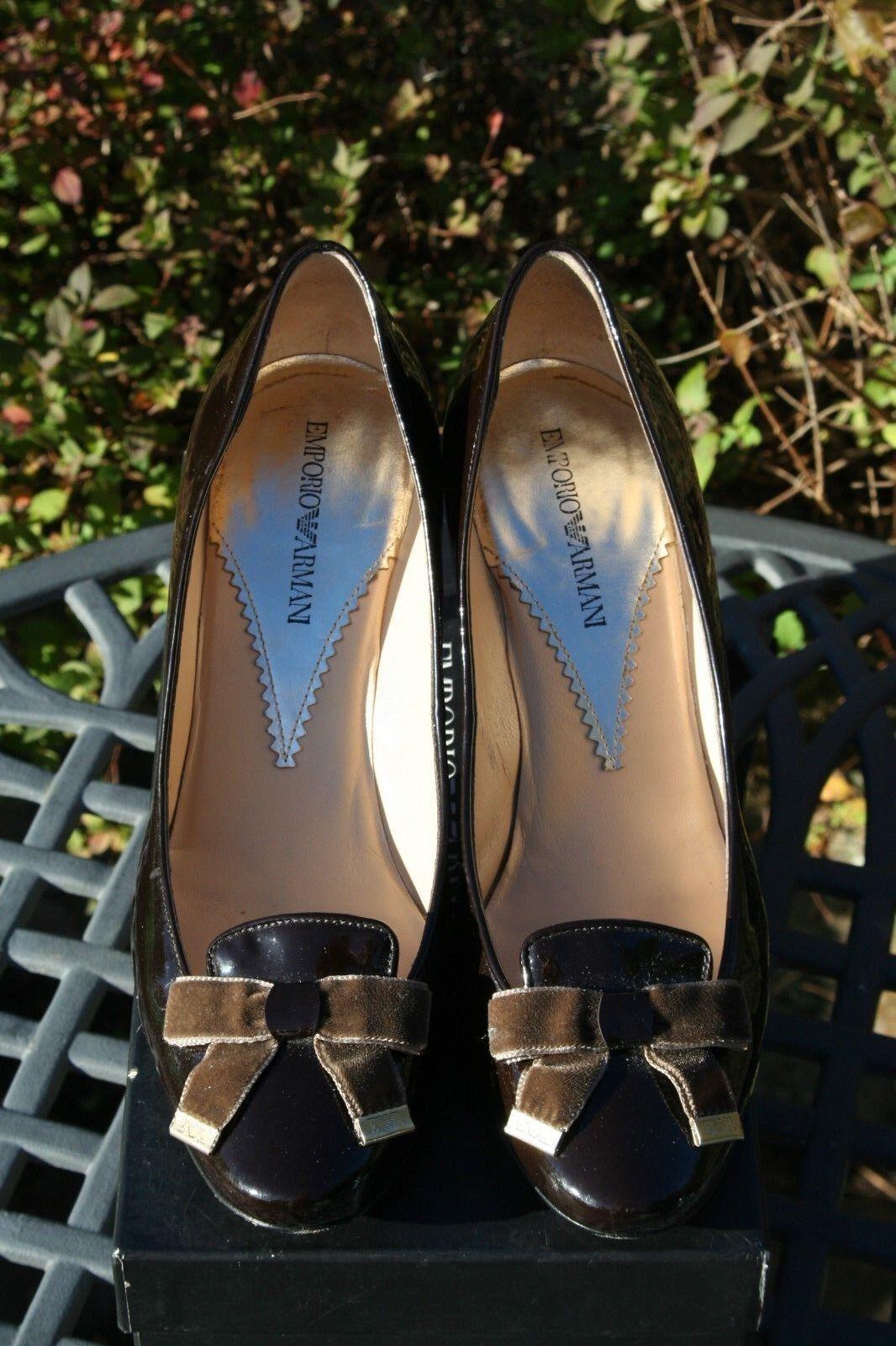 EMPORIO ARMANI Patent Leather Dress Court schuhe 38.5     5.5 afa6b3