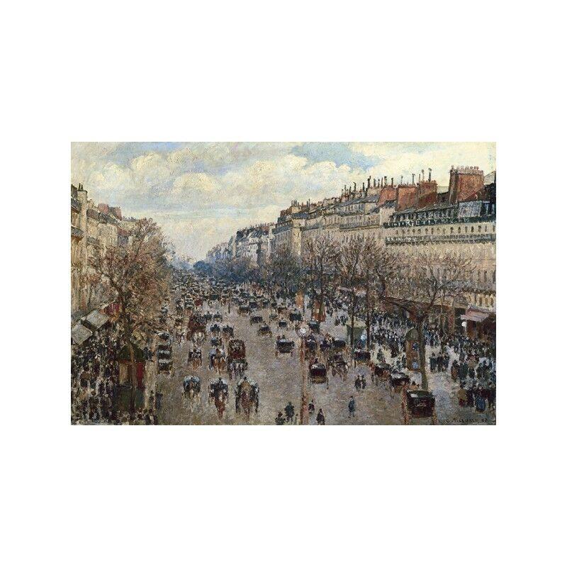 Quadro su Pannello in Legno à MDF Camille Pissarro Boulevard Monmartre à Legno Paris 8d363a