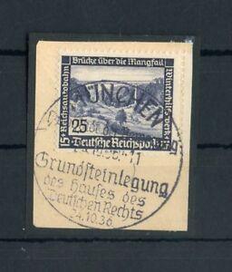 """Deutsches Reich Nr.641 Bfs. SST """"MÜNCHEN 24.10.1936 - HAUS"""" !!! (125029)"""