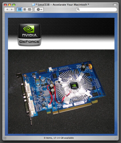 Mac PNY nVidia GT120 1GB EFI32//64 PCIe Video Card Cooling Fan Replacement