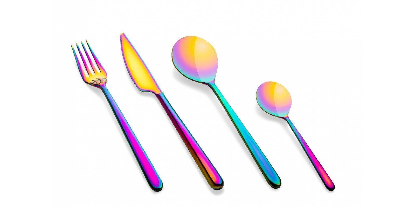 Mepra Mepra Mepra - Posto Tavola 4 Pezzi Posate Titanium Linea Rainbow The Luxury Art Mepra 7e364c